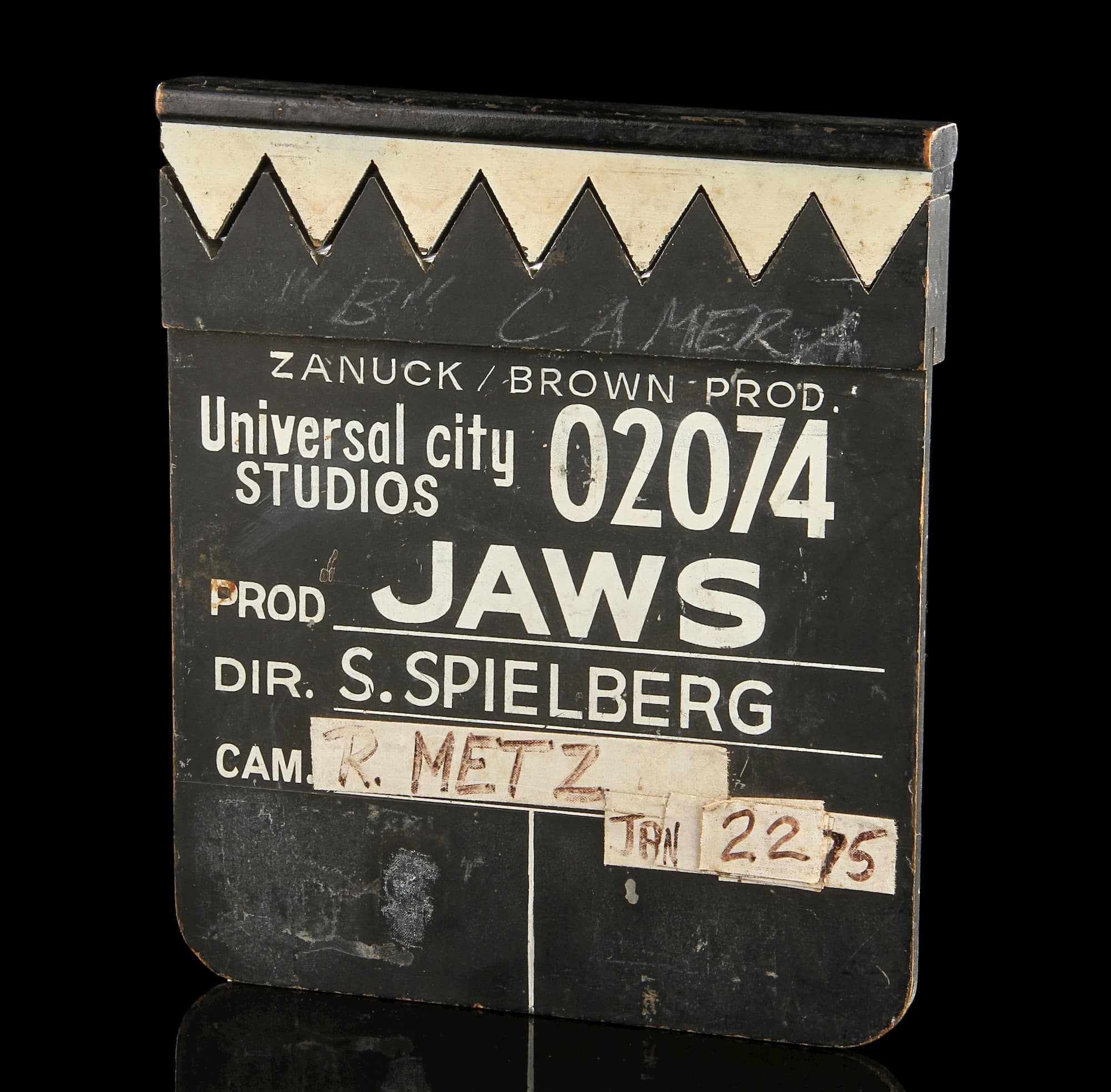 Clapper Board (Slate) used on Jaws in 1975